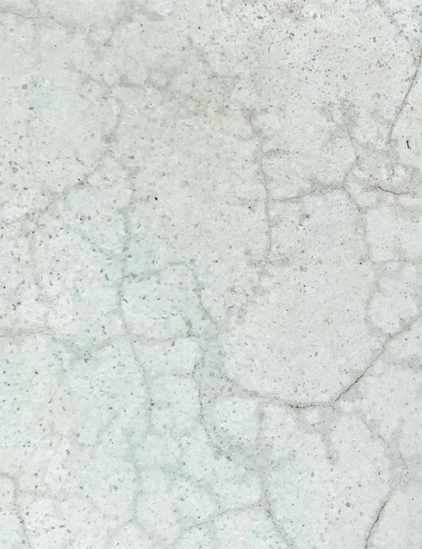Cracks pool surface interior spider web veins Marble sheen Green holes