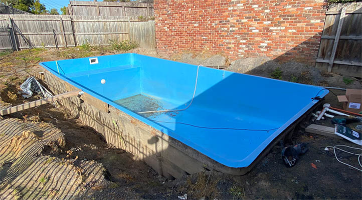 Fibreglass Removal Swimming Pool