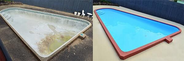 Swimming Pool painter melbourne tiler renovations coping resurfacing Pebble lining repairs paving