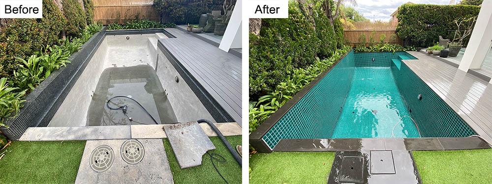 Full_Tiled_Swimming_Pool_Jade_Green_Melbourne Swimming Pool Tiling Melbourne - Local Pool Renovations