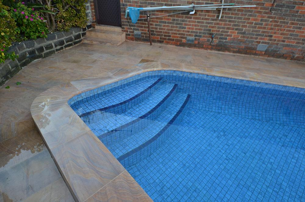 Tiling Marblesheen Pool Steps After