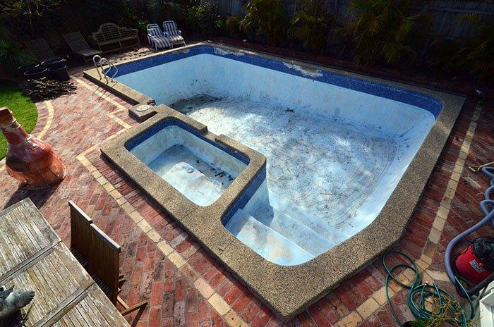 Ceramic Pool Tiles Before