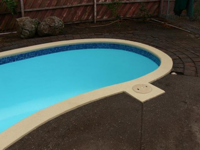 Poolside Paving Paint Application